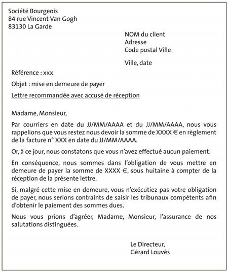 Fiche Ressource 18 Les Lettres De Relance La Procedure De